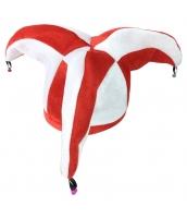 ピエロ 帽子 赤白3つ角 qx10127-8