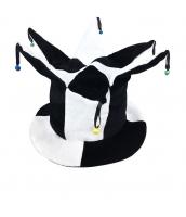 ピエロ 帽子 白黒 qx10127-9