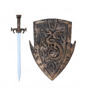 古代ローマ おもちゃ兵器・武器 グラディエーター 剣+盾 剣+盾 2点セット qx10128-18