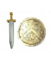 古代ローマ おもちゃ兵器・武器 グラディエーター 剣+盾 剣+盾 2点セット qx10128-19