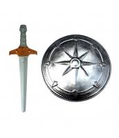 古代ローマ おもちゃ兵器・武器 グラディエーター 剣+盾 剣+盾 2点セット qx10128-21