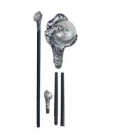 おもちゃ兵器・武器 シルバー プラスチック 杖 qx10132-10