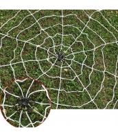 コスプレ小道具 クモの網 白 1.5M ネット+蜘蛛 2点セット qx10135-1