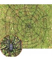コスプレ小道具 クモの網 黒 1.5M ネット+蜘蛛 2点セット qx10135-2