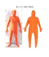 コスチューム フードマスク付きジャンプスーツ オレンジ 168-178cm qx10137-10