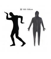 コスチューム フードマスク付きジャンプスーツ 黒 160-168cm qx10137-14