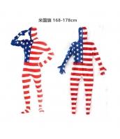 コスチューム フードマスク付きジャンプスーツ 米国旗 168-178cm qx10137-17