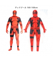 デッドプール 160-168cm アベンジャーズ コスチューム フードマスク付きジャンプスーツ qx10137-18