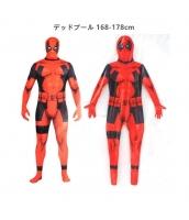 デッドプール 168-178cm アベンジャーズ コスチューム フードマスク付きジャンプスーツ qx10137-19