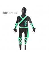 コスチューム フードマスク付きジャンプスーツ 忍者 145-155cm qx10137-22