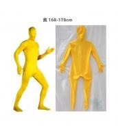 コスチューム フードマスク付きジャンプスーツ 黄 168-178cm qx10137-8