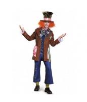 マッドハッター 不思議の国のアリス コスチューム ジャケット+シャツ+蝶ネクタイ+パンツ+帽子 5点セット qx10139-1