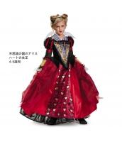 ハートの女王 不思議の国のアリス コスチューム 4-6歳児 qx10139-4