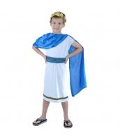 古代ローマ コスチューム 子供用 ワンピース+ヘッドピース+ウエストバンド+マント 4点セット qx10163-15