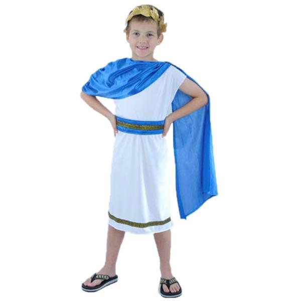 古代ローマ コスチューム 子供用 ワンピース+ヘッドピース+ウエストバンド+マント 4点セット qx10148-1