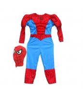 スパイダーマン コスチューム 7-9歳児 ジャンプスーツ+マスク 2点セット qx10161-10