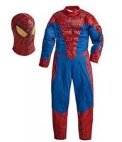 スパイダーマン コスチューム 7-9歳児 ジャンプスーツ+マスク 2点セット qx10161-11