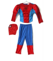 スパイダーマン コスチューム 7-9歳児 トップス+パンツ+マスク 3点セット qx10161-13