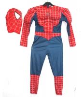 スパイダーマン コスチューム 7-9歳児 ジャンプスーツ+マスク 2点セット qx10161-14