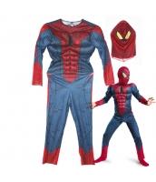 スパイダーマン コスチューム 7-9歳児 ジャンプスーツ+マスク 2点セット qx10161-2
