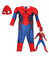 スパイダーマン コスチューム 3-4歳児 ジャンプスーツ+マスク 2点セット qx10161-4
