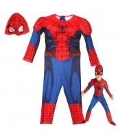 スパイダーマン コスチューム 7-8歳児 ジャンプスーツ+マスク 2点セット qx10161-6