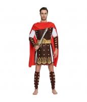 古代ローマ コスチューム グラディエーター ワンピース+マント+鎧(布)+アームカバーx2+ブーツカバーx2 7点セット qx10163-10