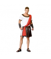 古代ローマ コスチューム グラディエーター ワンピース+肩掛け+アームカバーx2+ウエストバンド 5点セット qx10163-11