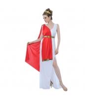 古代ローマ コスチューム ヘッドピース+ウエストバンド+ドレス+ショール 4点セット qx10163-7