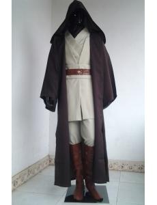 スターウォーズ StarWars オビ=ワン・ケノービ ジェダイ(Jedi)の騎士 フードマント ローブ 上着 ズボン ベルト ブーツカバー 豪華超お得セット ハロウィン 仮装 衣装 XLサイズ stw0004-8