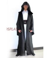スターウォーズStarWars 黒魔術士 魔道士 ロング・ローブ、フードつき  コスチューム・コスプレ ハロウィン 仮装 衣装stw0005-1