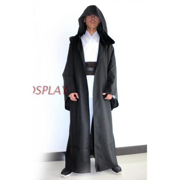 スターウォーズStarWars 黒魔術士 魔道士 ロング・ローブ フードつき コスチューム・コスプレ ハロウィン 仮装 衣装 Sサイズ stw0005-1