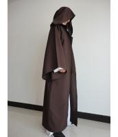 スターウォーズStarWars 黒魔術士 魔道士 ロング・ローブ、フードつき  コスチューム・コスプレ ハロウィン 仮装 衣装stw0005-2