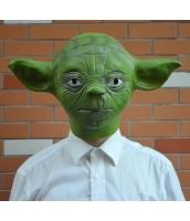 スターウォーズStarWars ジェダイ(Jedi)マスター 長老ヨーダ  ラテックス(天然ゴム)グリーン マスク ヘッドギア コスチューム・コスプレ ハロウィン 仮装 衣装stw0007
