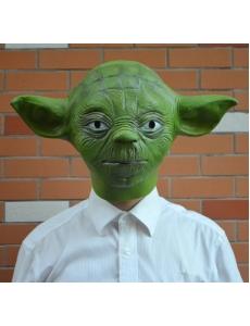 スターウォーズStarWars ジェダイ(Jedi)マスター 長老ヨーダ ラテックス(天然ゴム)グリーン マスク ヘッドギア コスチューム・コスプレ ハロウィン 仮装 衣装 stw0007-1