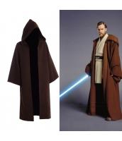 スターウォーズStar Wars コスプレ オビ=ワン・ケノービ ジェダイ(Jedi) ロング・ローブ フードつき ハロウィン 仮装 衣装stw0012