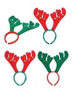 【即納】クリスマス トナカイ 角 カチューシャ tk-xm0114-1【カラー:緑角】【サイズ:フリー】