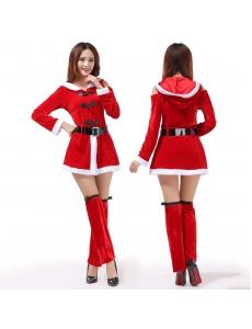 クリスマスコスプレ レディースサンタクロース コスチューム xm1076