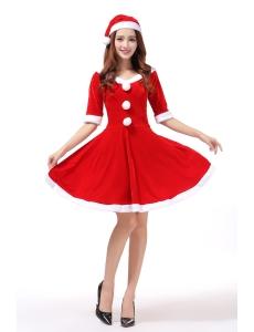 クリスマスコスプレ レディースサンタクロース コスチューム xm1086