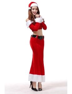 クリスマスコスプレ レディースサンタクロース コスチューム xm1089