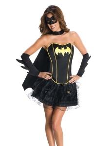 【即納】ハロウィン仮装 バットガール コスプレ 5点セットコスチューム tk-yy15231-m-bk【カラー:ブラック】【サイズ:M】
