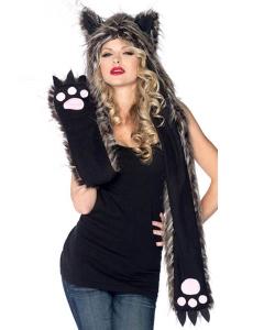 【即納】動物 アニマル 着ぐるみ パーティ衣装 コスチューム コスプレ オオカミフード tk-yyty917-f-gz【カラー:画像】【サイズ:フリー】